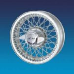 "Jaguar XK120 5""x16""   60 spokes Silver painted wire wheel"
